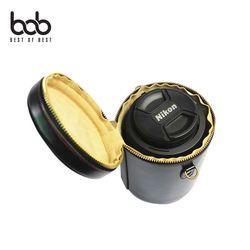 bob 가죽 DSLR 카메라 렌즈통 휴대 보관 케이스 중형