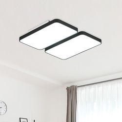 LED 리안 4등 거실등-블랙