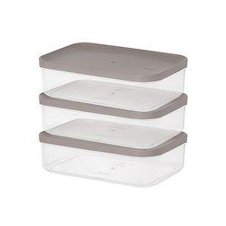 주방 냉장고수납 음식물 식재료 반찬 보관용기4호 3팩