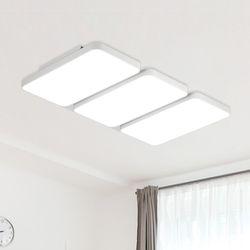LED 리안 6등 거실등-블랙