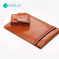 COTEetCI 휴대용 가죽 노트북 충전기 파우치 SET
