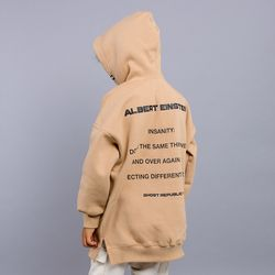 롱 토일 절개 오버핏 주니어 후드 티셔츠 JHT-J449