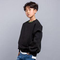 네온 넥 자수 오버핏 주니어 맨투맨 티셔츠 JMT-J199