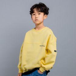 베이직 하프 절개 오버핏 주니어 맨투맨 티셔츠 JMT-J192