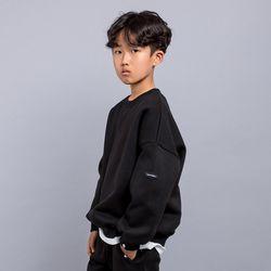 심플 컬러 포인트 오버핏 주니어 맨투맨 티셔츠 JMT-J190
