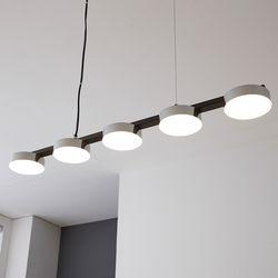 LED 벤자민 5등 인테리어조명(블랙)