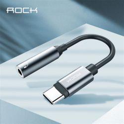 Rock C타입 3.5MM 메탈 이어폰젠더 Type-C 통화가능