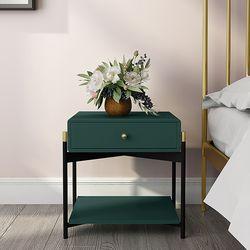아파트32 홈 골드 철제 스테이 침대협탁 서랍형 사이드테이블