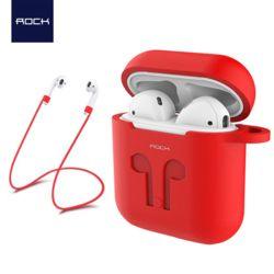 Rock 애플 에어팟 전용 실리콘케이스+스트랩 Airpods