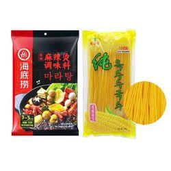 하이디라오 마라탕+진련화 옥수수면 세트 중국식품