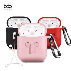 bob 솜사탕 애플 에어팟 케이스+스트랩+홀더 3set