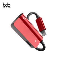 bob 아이폰8핀 3.5MM 듀얼 이어폰젠더 충전+음악+통화