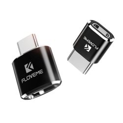 Floveme 메탈 C타입 OTG 젠더 USB2.0 typeC micro5핀