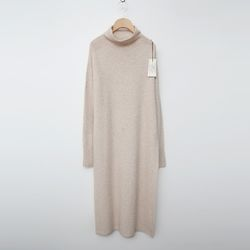 Laine Raccoon Wool Half Turtleneck Long Dress