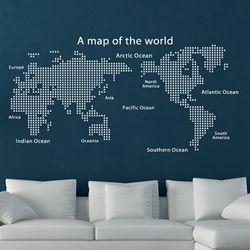 그래픽 스티커 삼각 모던 세계지도