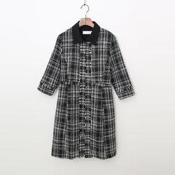 Tweed Zipper Mini Dress