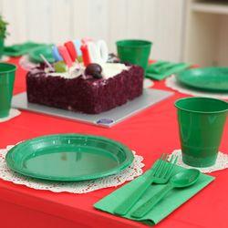 생일파티 테이블세트 레드앤그린