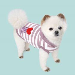 코코앤샤샤 강아지 하트후드티