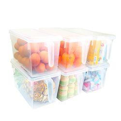 대용량 손잡이형 냉장고 정리함