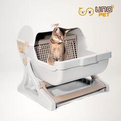 반자동 고양이화장실 모래 분리형 - 색상2가지