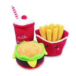 (봉봉펫닷컴) 불고기 햄버거 세트 애견 봉제인형 장난감