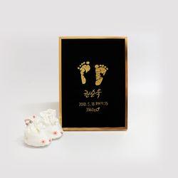 주문제작 자수 발도장액자 아기발도장 출산기념품