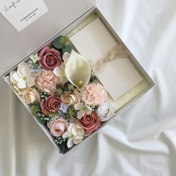 calla mix직사각 비누꽃용돈박스 어버이날 명절 부모님선물