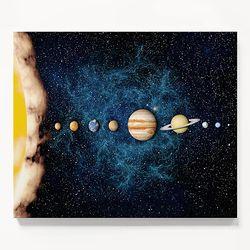 캔버스 우주 과학 인테리어 아이방 액자 태양계 [6호]