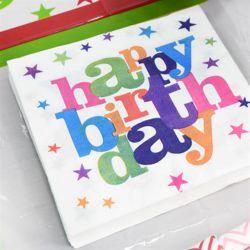 생일파티 냅킨-20매 (화이트스타)