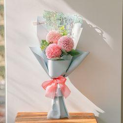 [쇼핑백] 마카롱 꽃송이 비누꽃다발-졸업꽃다발