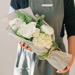 [메세지픽+쇼핑백] 화이트스완 비누꽃다발-졸업꽃다발