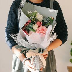 [메세지픽+쇼핑백] 트와일라잇 로즈 비누꽃다발-졸업꽃다발