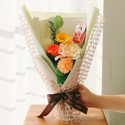 [쇼핑백] 메카드 로봇장난감 재롱잔치 비누꽃다발 -졸업꽃다발