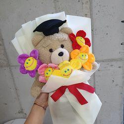 학사모 테드 인형꽃다발 졸업식꽃다발 생일선물