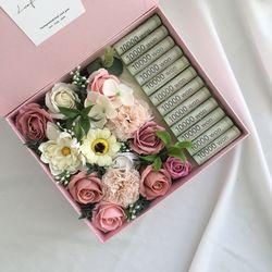 cherry mix 직사각 비누꽃용돈박스 어버이날 명절 부모님선물
