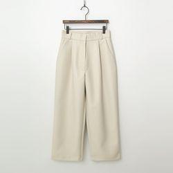Faux Leather Wide Crop Pants