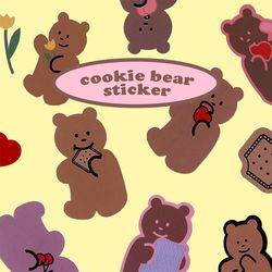 cookie bear sticker