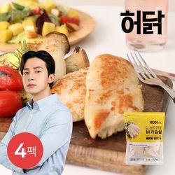 [무료배송] 허닭 더 부드러운 닭가슴살 1kg(100g x 10팩) 4팩