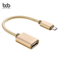 스피딕 메탈 마이크로5핀 USB OTG 젠더 데이터케이블