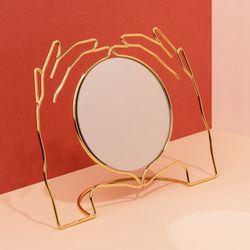 도이 엑세리아 화장대 탁상 거울 골드
