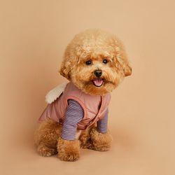 My Dogs Padding Vest 마이 도그스 패딩 베스트 Pale Pink