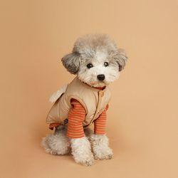 My Dogs Padding Vest 마이 도그스 패딩 베스트 Beige