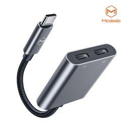 Mcdodo USB C to C타입 오디오 + C타입 충전 듀얼 젠더