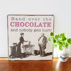 빈티지 스타일 초콜릿 사인보드