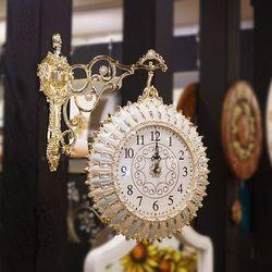 OPT3126L 꽃잎 주물 엔틱 양면시계
