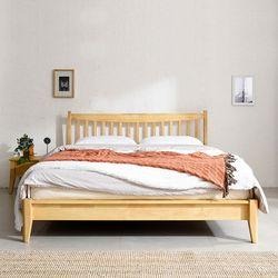 프리미엄 원목 퀸 침대 세트(매트포함)
