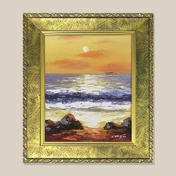 낙조 바다그림 물그림 유화그림 인테리어 액자 3호