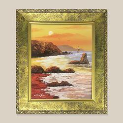 석양 바다그림 물그림 유화그림 인테리어 액자 3호