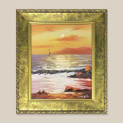 만조 바다그림 물그림 유화그림 인테리어 액자 3호