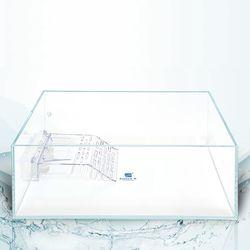 크리스탈 디아망유리 거북이어항 40x25x16 두께5mm